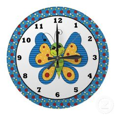 Cartoon Butterfly insect wall clock