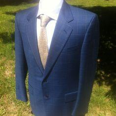 3b95cc05e 40 R - CANALI Blue Plaid Blazer Plaid Blazer, Plaid Jacket, Blazer Suit,