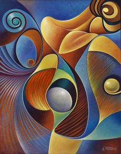 Dynamic Series 22 Painting - Dynamic Series 22 Fine Art Print