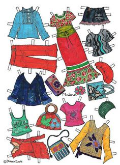 Karen`s Paper Dolls: Malene 1-6 Paper Doll in Colours.Malene 1-6…