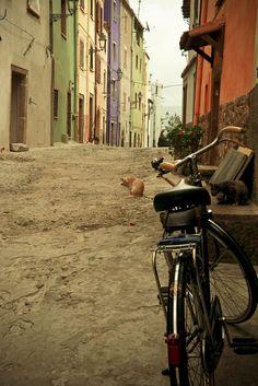Streets of Alghero, Sardinia, Italy