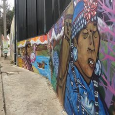 Mural depicting the Mapuche people