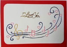 Fadengrafik - GrußKarten - Set mit dem abgebildeten Fadengrafik-Motiv  bestehend aus: 1 Doppelkarte / Klappkarte im Format A6 quer 14,8 x 10,5 cm 1 passender Briefumschlag (je nach...