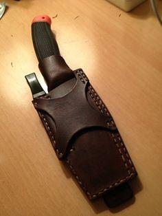 MORA Clipped Handmade Knife sheath mod.1 by BushgearLeatherworks