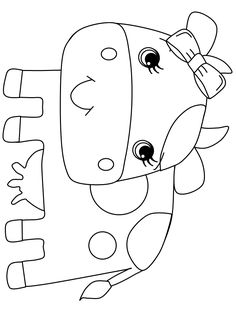 Print coloring page and book, Cow8 Animals Coloring Pages for kids of all ages. Updated on Saturday, April 5th, 2014.