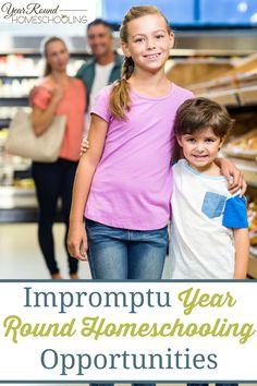 Impromptu Year Round Homeschooling Opportunities - By Misty Leask #YearRoundHomeschooling #Homeschooling #Help