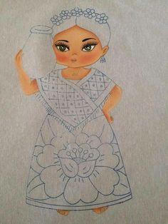 Resultado de imagem para pintura em tecido tema princesa