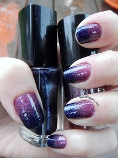 Purple gradient nail design Gradient Nail Design, Gradient Nails, Latest Nail Designs, Saga, Nail Polish, Purple, Beauty, Manicure, Viola