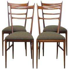 Set of 4 Carlo de Carli Dining Chairs in Rosewood. 3.1K