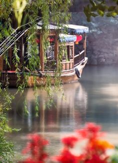 Canal Boat, Beautiful Images, Cabin, House Styles, Home Decor, Decoration Home, Room Decor, Cabins, Cottage