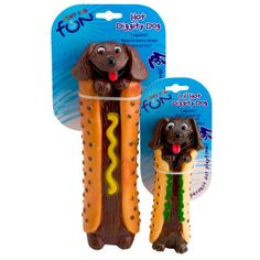 Petstages Hot Diggity Dog Toy -- Tahehehe!