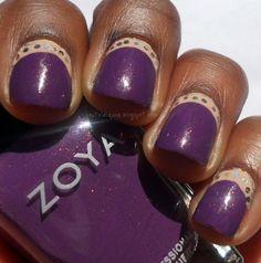 Zoya Tru & Avery Half Moon Sequin Mani