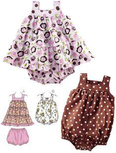 Baby Shop - Kwik Sew Dress, Bloomers & Romper Pattern