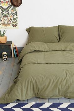 4040 Locust Trapper Duvet Cover Urban Outfitters. $89-99. Olive Green down comforter.