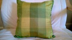 Items similar to Green Check Silk Cushion - Handmade Vintage Kimono Silk Pillow on Etsy Handmade Cushions, Silk Pillow, Vintage Kimono, Throw Pillows, Trending Outfits, Handmade Gifts, Green, Check, Etsy