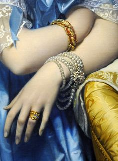 Princesse de Broglie (detail), Jean-August-Dominique Ingres