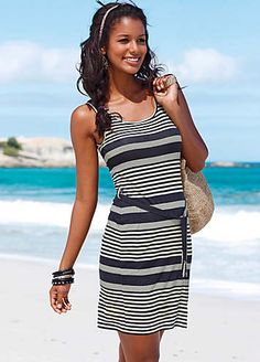 30fb45265a Beachtime Black Striped Beach Dress Cruise Wear, Lifestyle Clothing,  Holiday Wear, Cruise Collection