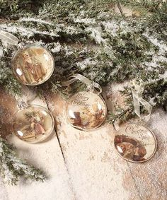 Add this vintage-inspired gold and white St. Nicholas ornament set to your holiday décor this season for a nostalgic touch. Christmas Trends, Christmas Bulbs, Bethany Lowe, Vintage Inspired, Alcoholic Drinks, Holiday Decor, Glass, Inspiration, Design