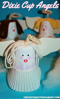 Dixie Cup Angels - A cute holiday craft to make with your little angels