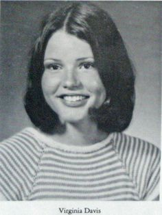 Actress Geena Davis 1974 Wareham High School yearbook photograph where her entry reads that she wanted to 'move to the big city and become a famous movie star'