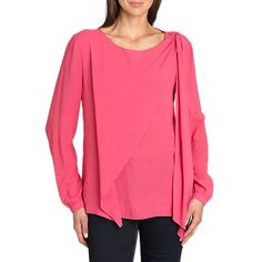 £27 Buy Betty Barclay Long Sleeve Blouse Shoulder Tee, Raspberry Online at johnlewis.com