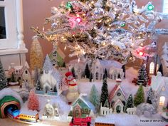 LOVE the Village under the tree!!! - House of Whimsy: My Favorite Christmas Decorating (Part II)