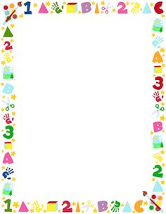 Free Preschool Border Templates Including Printable Border Paper And Clip  Art Versions. File Formats Include GIF, JPG, PDF, And PNG.  Microsoft Word Page Border Templates