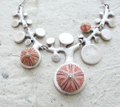 Sea Urchin Collection - Organic Pink Necklace by StaroftheEast