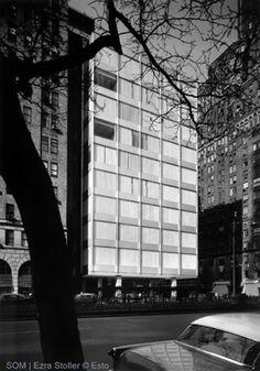 S.O.M. (Skidmore, Owings & Merrill) Gordon Bunshaft, architect Pepsi-Cola Corporation World Headquaters New York, 1958-59.