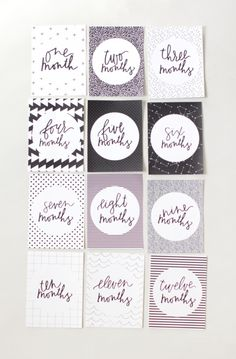 FREE printable month-by-month baby milestones cards