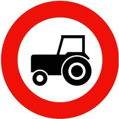Street & Traffic Sign Wall Decals - Tractor Sign