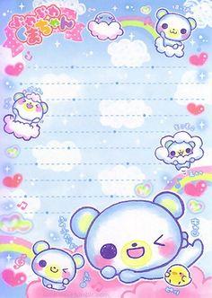 Kawaii colorful memo