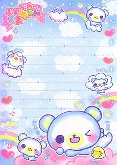 Kawaii colorful memo
