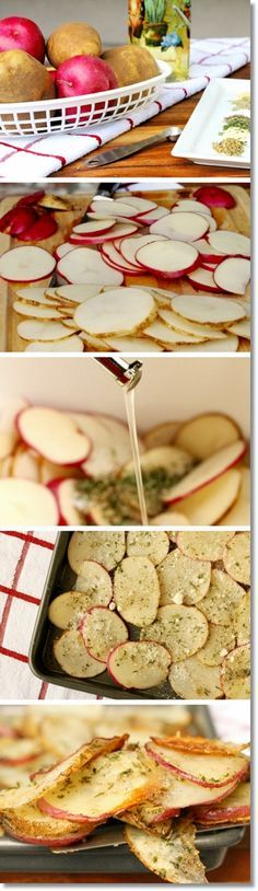 Baked Herb Parmesan Potato Slices