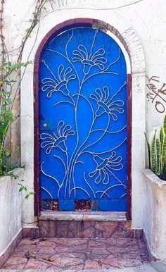 Blue Flower Door