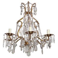 19th C crystal Venetian chandelier from Liz Spradling Antiques