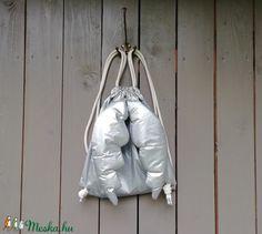 Angyalhátizsák, ezüst (zsiemankaje) - Meska.hu Leather Backpack, Backpacks, Bags, Fashion, Handbags, Moda, Leather Backpacks, Fashion Styles, Backpack