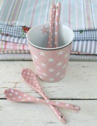 Krasilnikoff, Löffel Happy Spoon, Star Pink www.bellissimo-webshop.de/sterne/