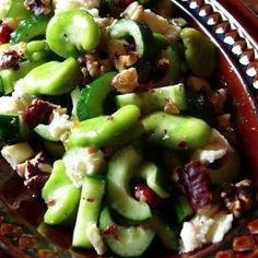 空豆ときゅうりのポリリズムサラダ