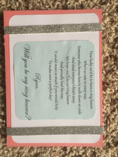 Ring bearer invite