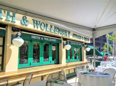 The famous Smith & Wollensky restaurant in Chicago. Folding Patio Doors, Chicago Restaurants, Window Design, Innovation, Windows, Glass, Wall, Home, Drinkware