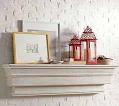 Decorative Ledge #potterybarn. Look for smaller, less expensive version (this style and color).