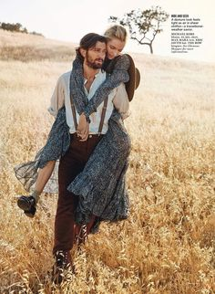 Dreamy Outback Editorials - Photographer Will Davidson Shoots Models in the Countryside for Glamour (GALLERY)