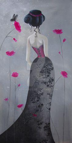 Le papillon noir by LadySybile