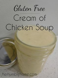 With this simple Gluten & Dairy Free Cream of Chicken Soup, you can once again enjoy cooking your favorite recipes. Gluten Free Soup, Gluten Free Chicken, Dairy Free Recipes, Vegan Gluten Free, Gluten Free Cream Of Chicken Soup Recipe, Gf Recipes, Pumpkin Recipes, Paleo