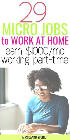 Legitimate micro jobs from home. Grab the list of 29 companies that hire micro workers from home and make money online FAST. These are often small tasks that can be completed within a few minutes. START TODAY Make money online jobs Work From Home Jobs, Make Money From Home, Way To Make Money, Quick Money, Make Money Blogging, Money Tips, Money Saving Tips, Online Income, Online Earning