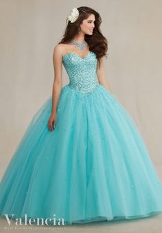 Quinceanera Dress 89087 Tulle Ball Gown with Beading