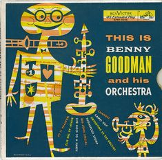 1955 Benny Goodman album cover, illustrated by Jim Flora