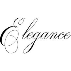 A Lady has Elegance ~