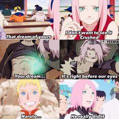 Sakura is so happy that Naruto finally achieved his dream of becoming Hokage! ❤️❤️❤️